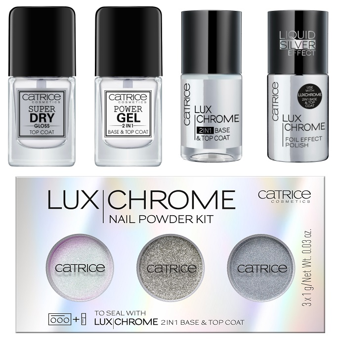 CATRICE Luxchrome Nail Powder Kit