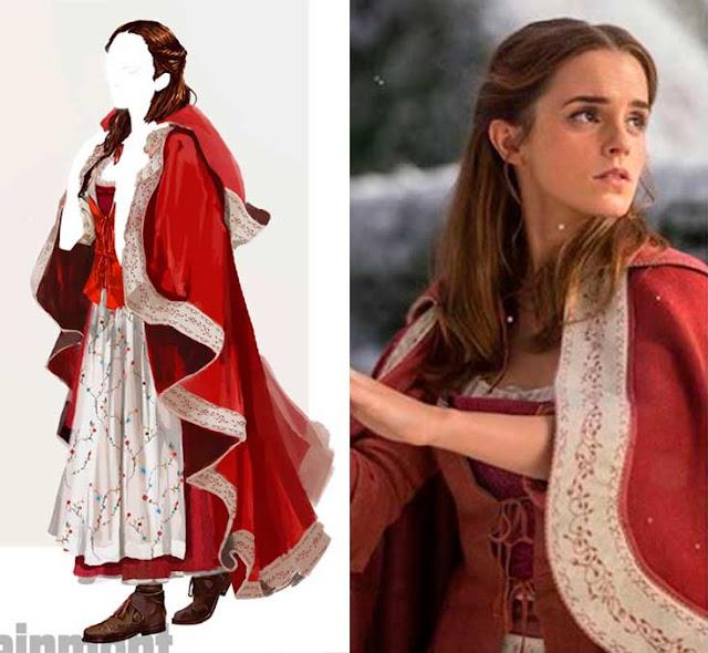 Vestido vermelho  Bela e a Fera 2017