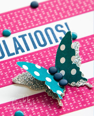 Wonderful Washi Tape Congratulations Card made with Stampin' Up! UK Supplies for National Stationery Week