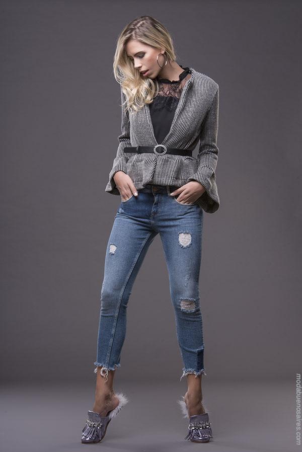 Moda jeans otoño invierno 2018 ropa de mujer. | Moda otoño invierno 2018.