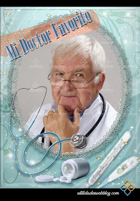 Marcos digitales para fotos para el día del medico o doctora
