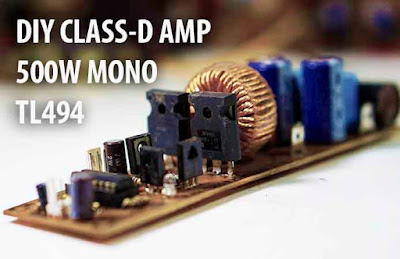 Power Amplifier Class D using TL494 IRF N Channel mosfet