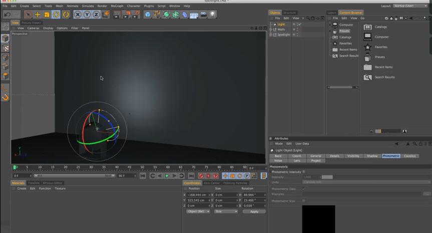 Realistic Light Falloff with IES Lights in Cinema 4D | CG