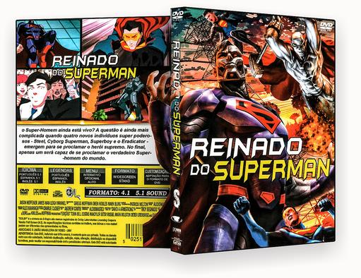 CAPA DVD – Reinado Do Superman – ISO