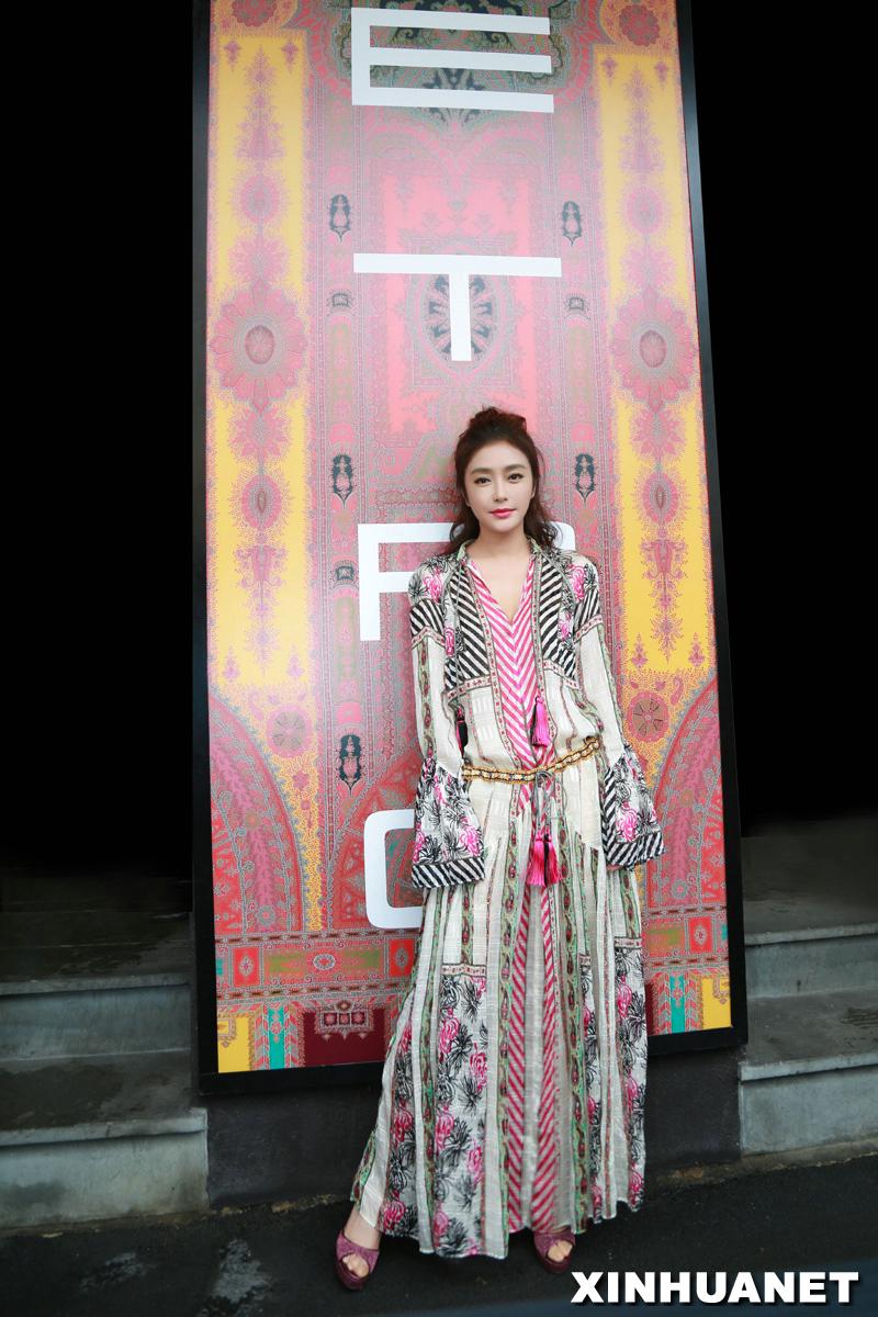 Qin Lan in Milan for fashion week