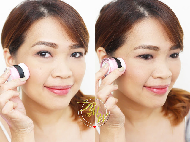 a photo on how to apply Dearberry Toc Toc Blusher in Marshmallow Bunny