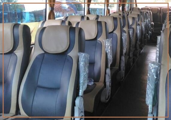Denah Tempat Duduk Bus Pariwisata Seat 2-2 dan 2-3