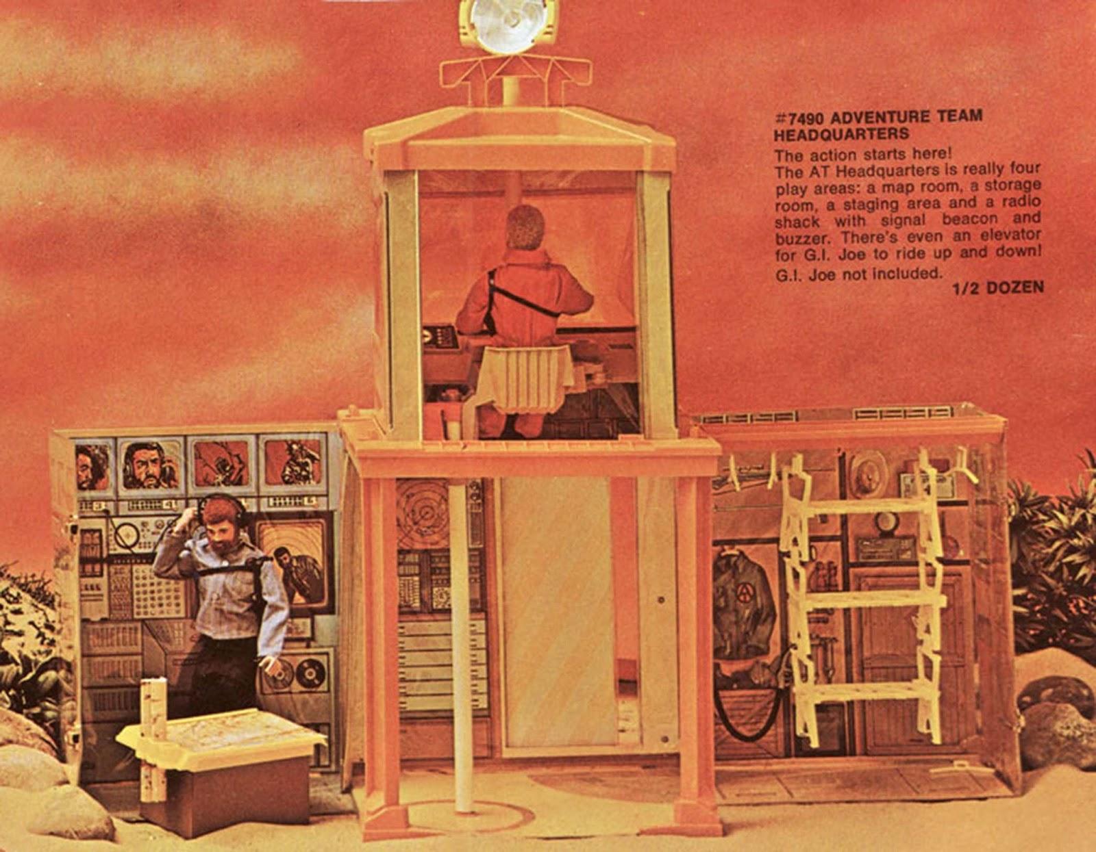 Vintage GI Joe Adventure Team Headquarters Pole support base