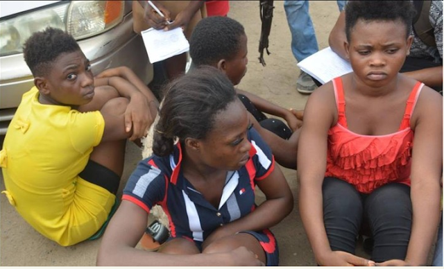 See photos of Prostitutes, Kidnappers Arrested & Paraded By Lagos State Police Command