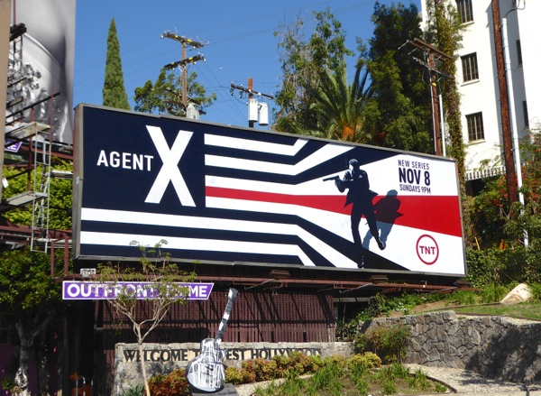 Agent X series premiere billboard