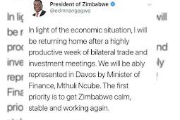 Emmerson Mnangagwa Abandons European Tour as Political Situation Degenerates in Zimbabwe