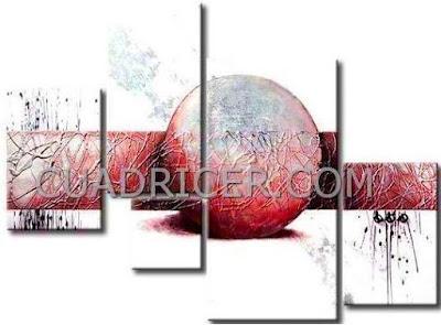http://www.cuadricer.com/cuadros-pintados-a-mano-por-colores/cuadros-rojos-granates/cuadros-moderno-abstracto-2190-circulo-rojo-agil-dinamico-gris-dormitorios-salones.html