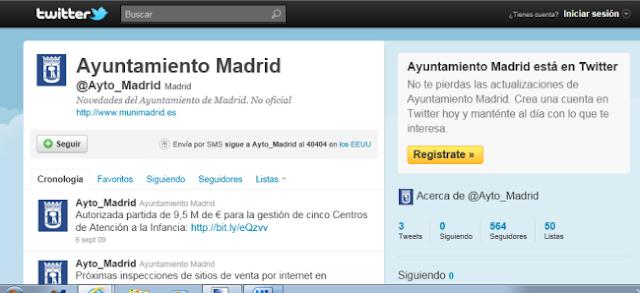 Más de 1000 seguidores en el Twitter del Ayuntamiento de Madrid