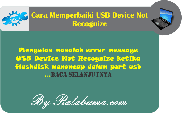 Cara Memperbaiki USB Device Not Recognize