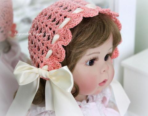 Lacy Crochet Lacy Vintage Bonnet Free Crochet Pattern