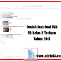 Contoh Soal-Soal UKK SD Kelas 2 Terbaru Tahun 2017