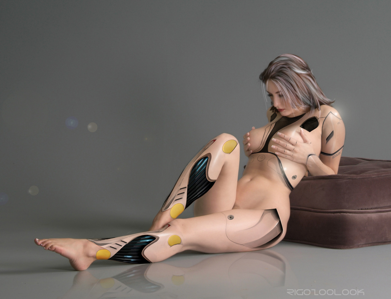 Futurism Retro Sexy Robot