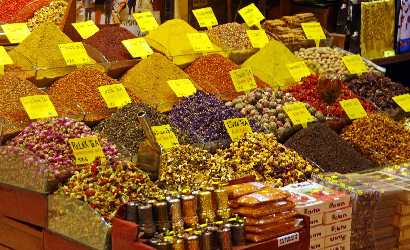 Spices at Grand Bazaar Istanbul