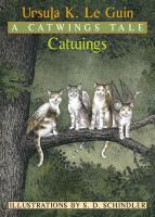 Four winged cats sitting on a tree branch.