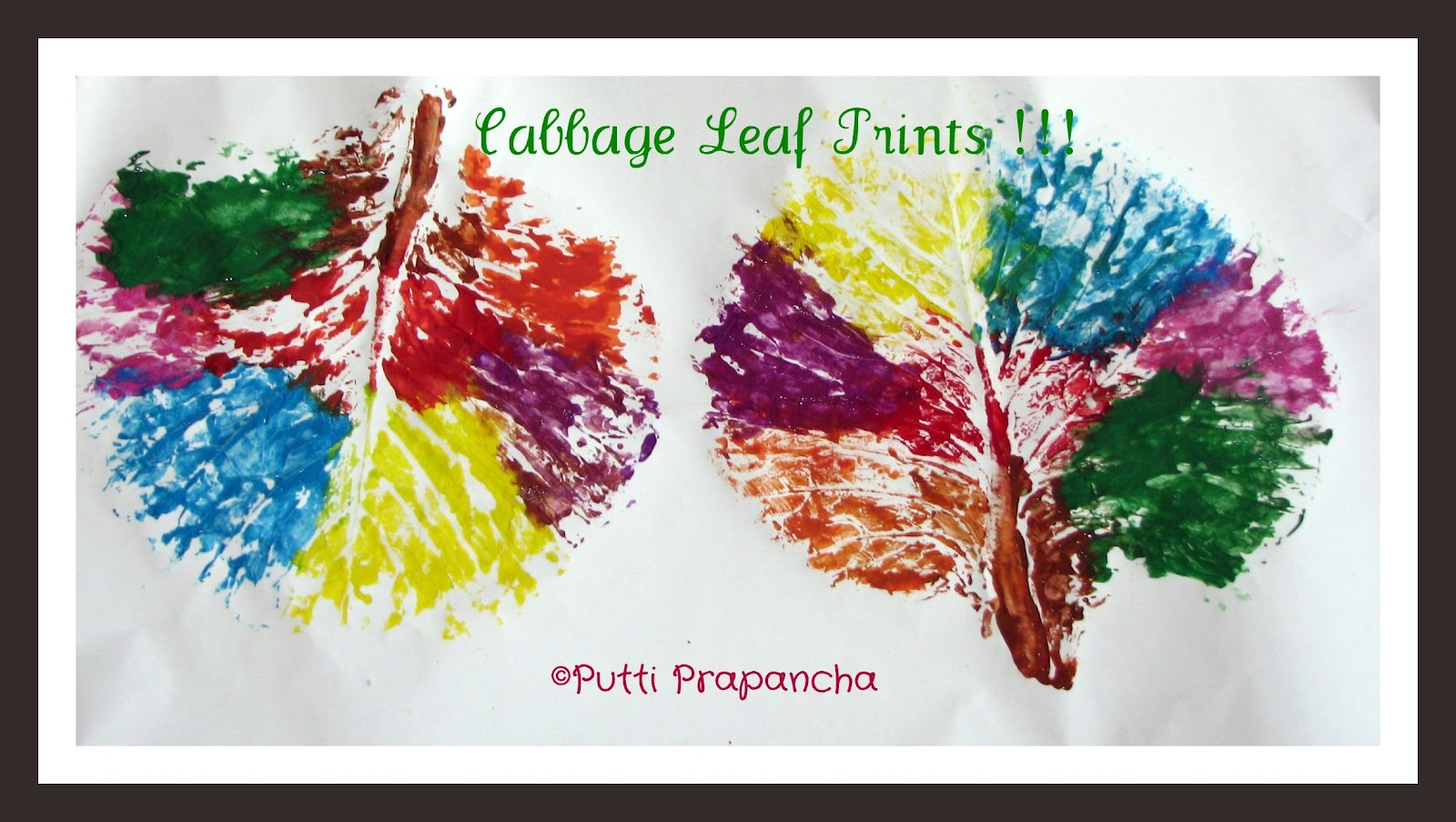 Big Leaf Printing - with cabbage leaves!! ~ Putti's World