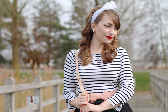 Banned Modern Love striped top
