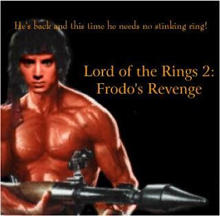 Meme de humor sobre El señor de los anillos y Rambo