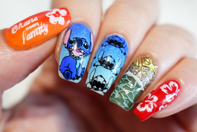 Disney's Lilo and Stitch beach nerdy nails