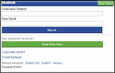 cara mendaftar facebook gratis lewat posel gambar