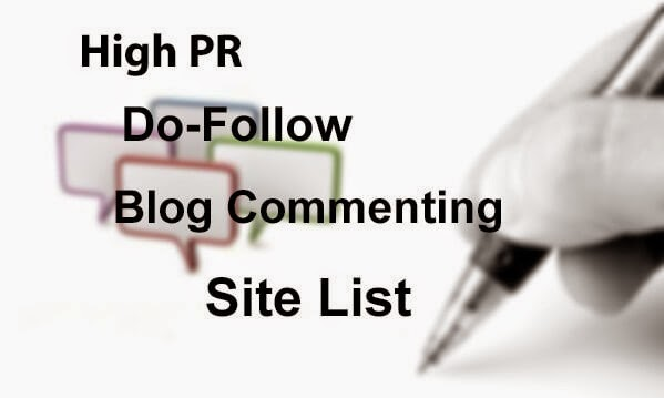 Dofollow Blog Commenting sites list 2015