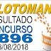Resultado da Lotomania concurso 1896 (28/08/2018) ACUMULOU!!!