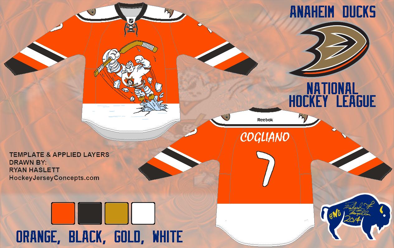 huge selection of 423da 71fe1 ... in glorious Orange photo  1998-99TeemuSelanneAnaheimMightyDucksGameWornJersey-MauricequotRocketquotRichardTrophyF.jpg  Mens Anaheim Ducks Blank Reebok ...
