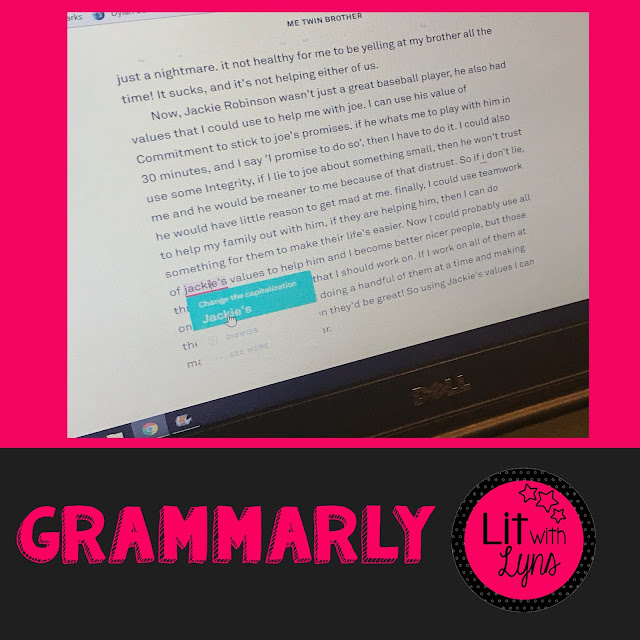 Grammarly Examples of Student Use