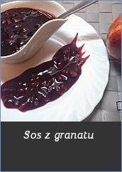 Sos z granatu słodki sos do dań z owoców przepis granat kisiel z kawałkami owoców