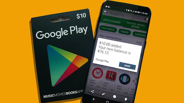 بطاقات جوجل بلاي