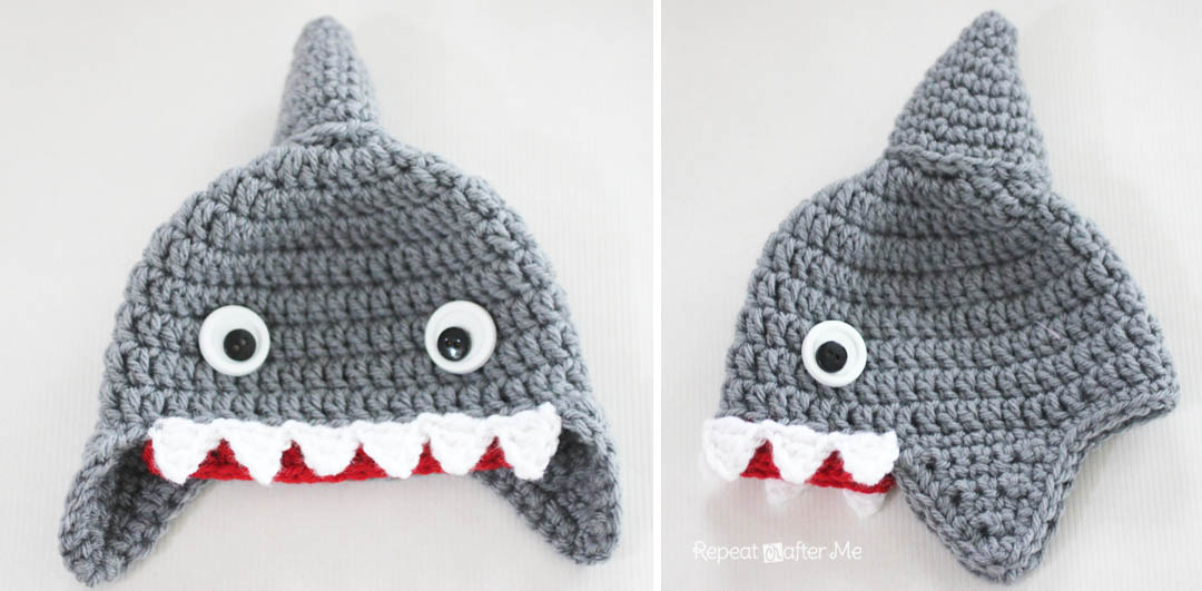 Crochet Shark Hat Pattern Repeat Crafter Me