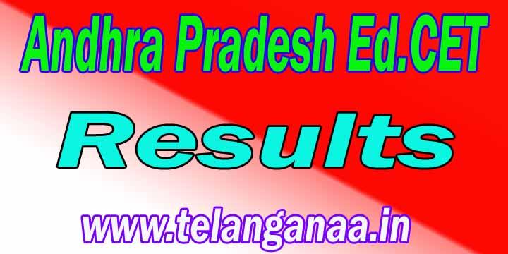 Andhra Pradesh AP Ed.Cet Results APEd.Cet Results