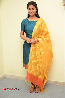 Actress Keerthi Suresh Pictures in Salwar Kameez at Nenu Local Movie Opening  0019