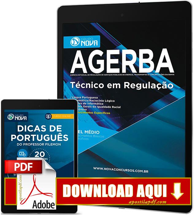 Apostila AGERBA 2016 PDF Download Técnico em Regulação