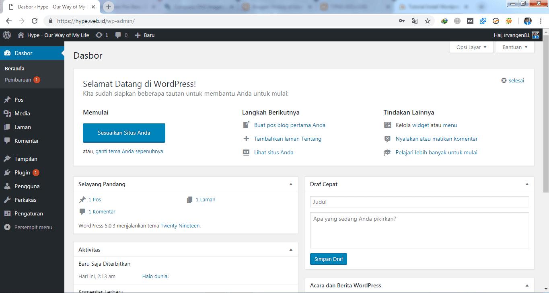 Tutorial Install WordPress di cPanel Hosting` 15
