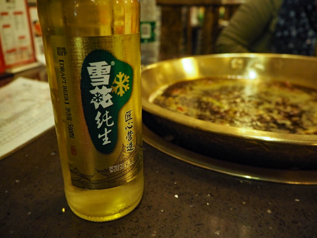 Chinese beer and Chinese hotpot