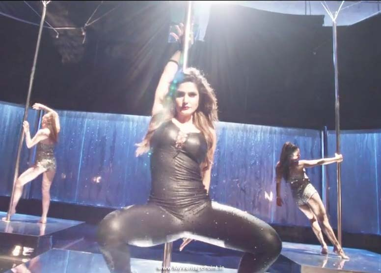 Zareen Khan thighs pics, Zareen Khan in tight dress, Zareen Khan video song maahi ve stills