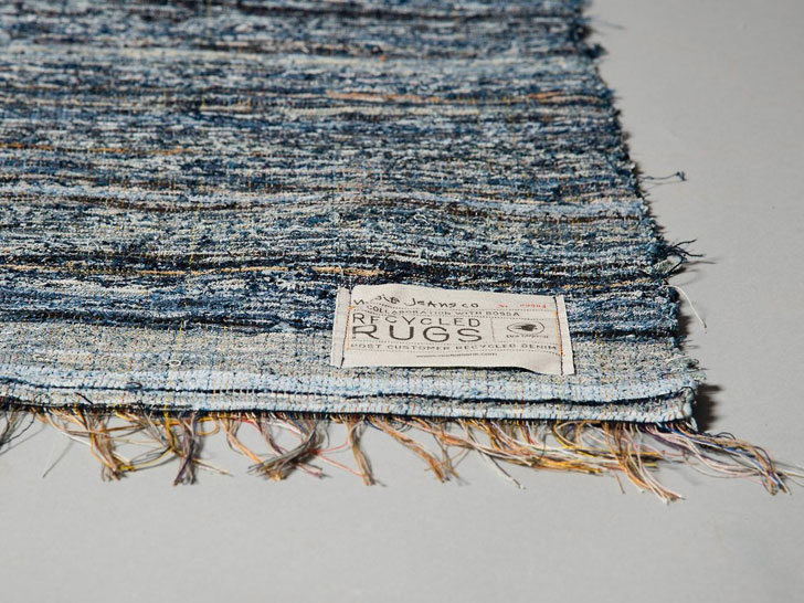 Nu Jeans Recycles Worn Out Into Hand Loomed Denim Rugs