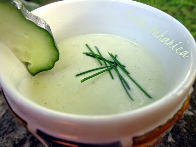 Chilled avocado and cucumber soup by Laka kuharica: smooth, chilled soup is ideal for hot summer days.