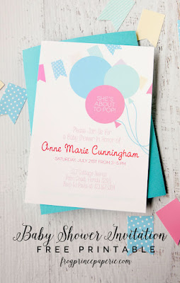 free baby shower invitation to print