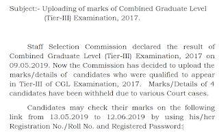 SSC CGL Tier 3 Exam Score Card Released Check it Now