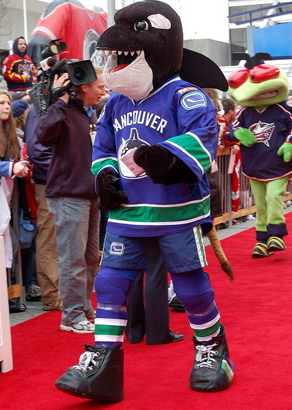 Fin the Whale The Vancouver Canucks mascot