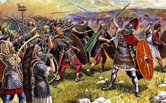 the-Roman-army-war-arrows-spears-armor-s