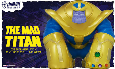 "Thanos ""The Mad Titan"" Vinyl Figure by Joe DellaGatta x Unruly Industries x Sideshow x Marvel"