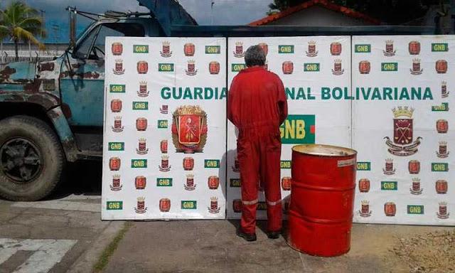 Detenido por robarse 200 litros de aceite para motor en el Estado Aragua