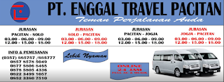 Jadwal Travel Jogja Pacitan